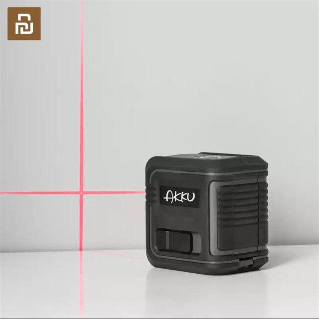 Youpin akku レーザーレベル自己レベリング 360 水平垂直クロススーパー強力な赤色赤外線レーザー用