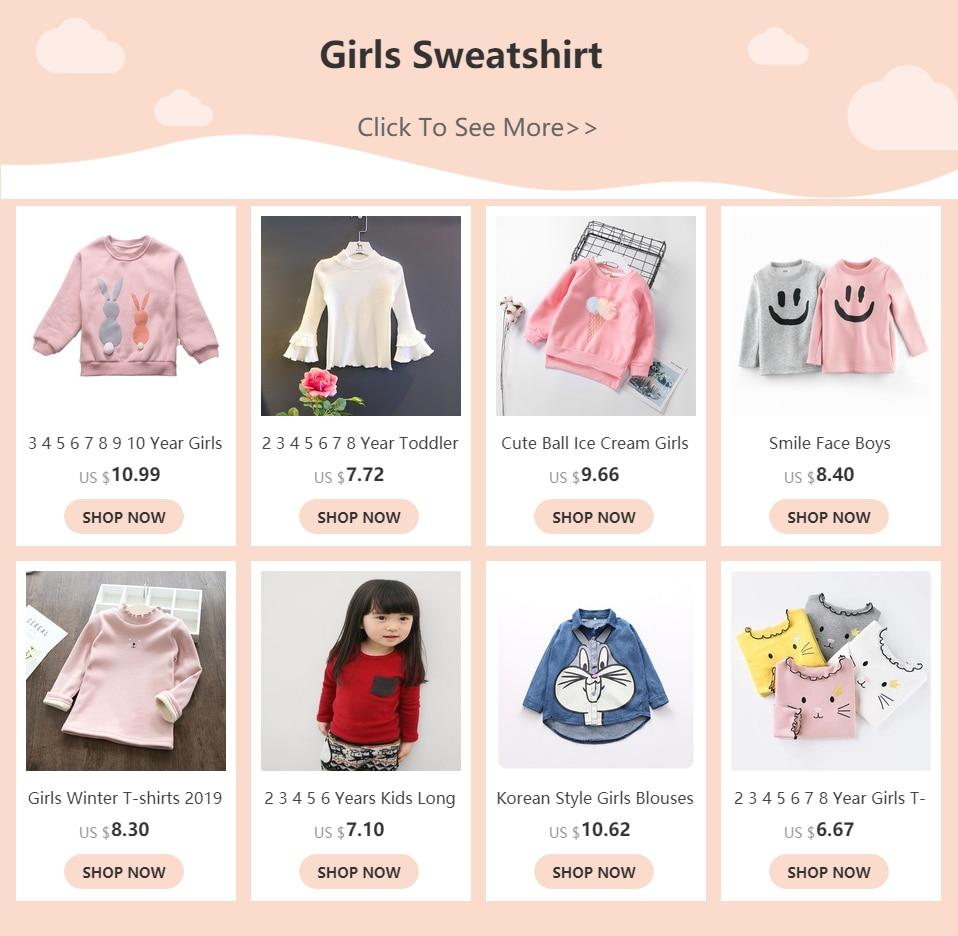 Cute Ball Ice Cream Girls Sweatshirt Autumn Winter Thick Warm Kids Sweatshirts for Girl O-neck Long Sleeve Children Top Clothing 1