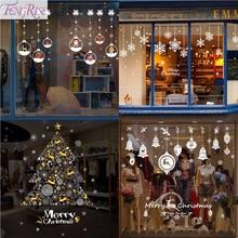 Xmas DIY Wall Sticker Merry Christmas Decoration for Home Window 2019 Ornaments New Year 2020 Decor Navidad