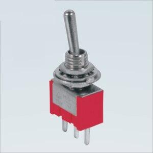 100 шт. MTS-102R-A2 Красный SPDT PCB клеммы на заказ на 2 Позиции 3a 250vac Мини тумблер