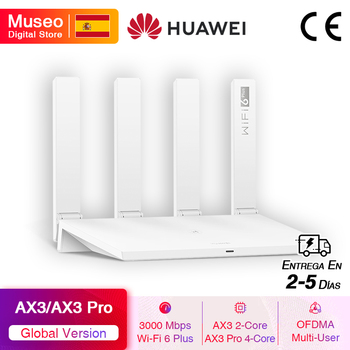 Global Version HUAWEI WiFi AX3 / WiFi AX3 Pro Wireless Router Dual-core WiFi 6+ 3000Mbps 2.4GHz 5GHz Dual-Band Gigabit Rate