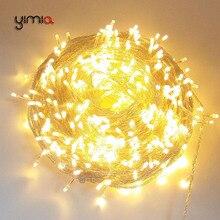 20 м 30 м 50 м теплый белый светодиодный гирлянда сказочные огни наружные Рождественские Праздничные огни гирлянды Свадебная вечеринка садовые украшения огни