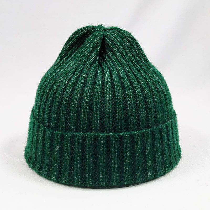 Mixed Color Winter Cap Knit Hat For Men Women Striped Shape Beanies Dark Green Black Blue Yellow