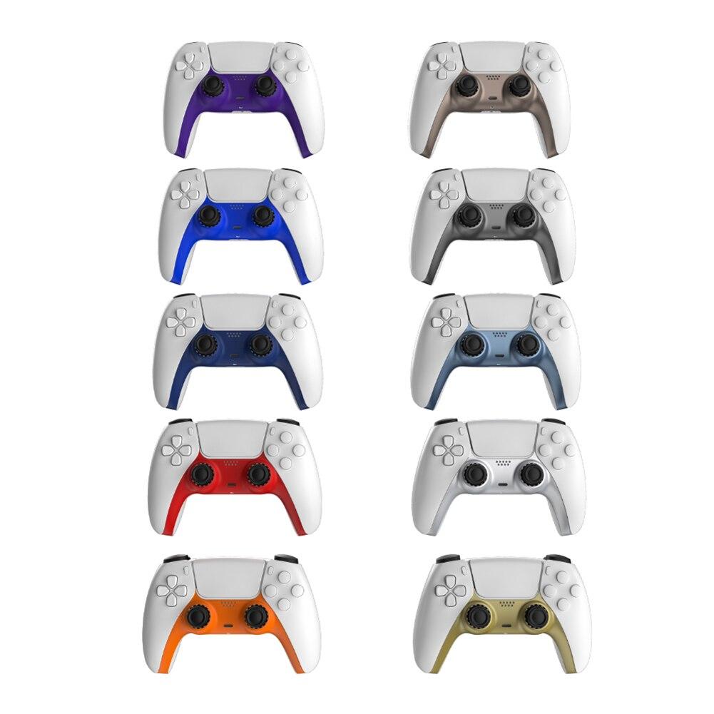 Housse de manette pour Sony PS5 avant contrôleur moyen remplacement coque décorative pour Sony Playstation5 Joypad jeux accessoires
