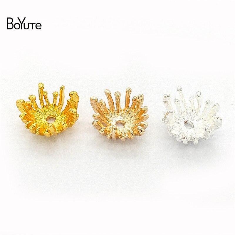 BoYuTe (100 Pieces/Lot) Metal Alloy 13.5MM Flower Stamen Pistil Vintage Diy Hand Made Jewelry Accessories Parts