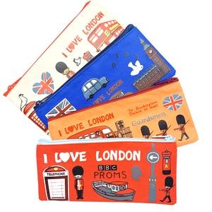 Image 2 - 20 шт./лот, винтажный пенал I love london series, пенал для карандашей, офисные школьные принадлежности