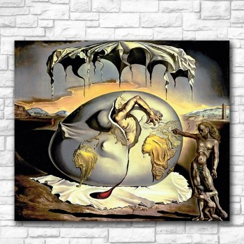 Child Watching the Birth of the New Man by Salvador Dali printed on Canvas 1