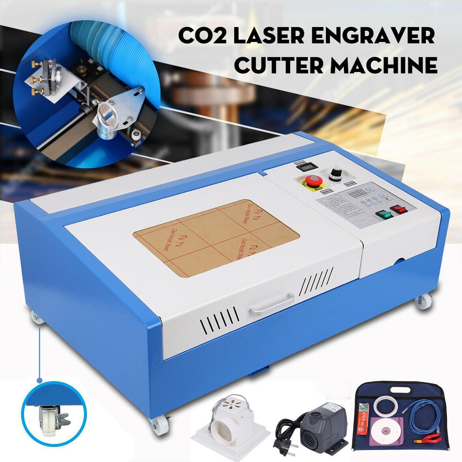 Newest Engraving Machine USB CO2 Laser Engraving Cutting Machine Laser Engraver 40W For Wood Acrylic 110V/220V