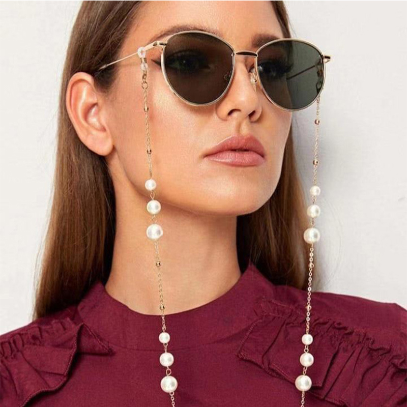 Elegant Handmade Pearl Beaded Glasses Chain Women Sunglasses Lanyard Strap Reading Eyeglass Chain Hanging Spectacles Accessories