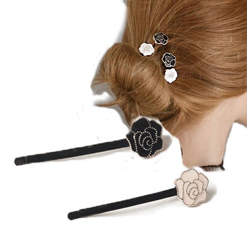 Saturna Elegant Flower Hair Clip Hair Accessories Flower Hairpin Headwear