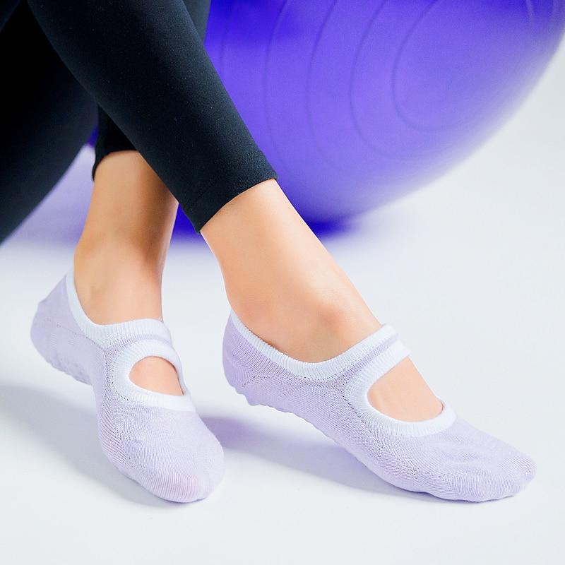 7 Color Big Size Women Yoga Socks Silicone Non Slip Pilates Socks Breathable Fitness Ballet Dance Cotton Sports Socks Slippers