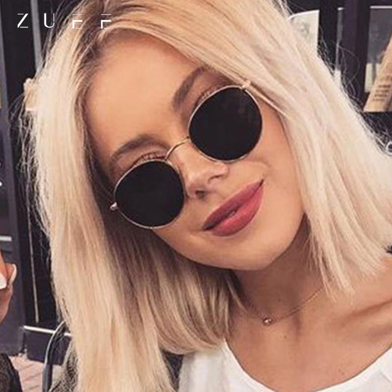 Classic Small Frame Round Sunglasses Women/Men Brand Designer Alloy Mirror Sun Glasses Vintage Modis Oculos