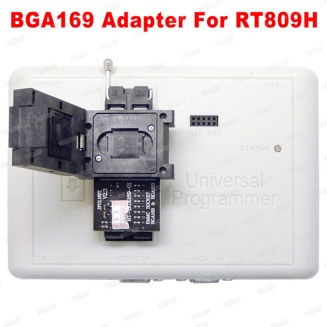Darmowa wysyłka RT BGA169 01 BGA169 / BGA153 EMMC Adapter V2.3 z 3 sztuk BGA bounding box dla RT809H programista