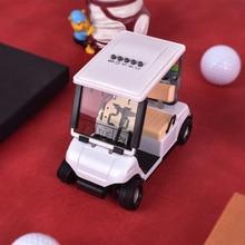 Metal multifunctional golf cart model electronic perpetual calendar thermometer alarm clock trainer fan gift