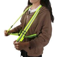 6Pcs Reflective Vest Bands Night Running Biking Walking Safety Straps Reflectors 1XCB