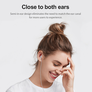 Image 3 - 3PCS Lenovo Earphone Semi in ear Wire controlled Headset HIFI Sound Insulation Noise Reduction Headset Ceramic Speaker with Mic