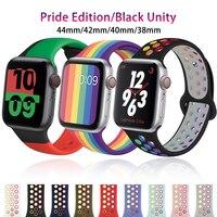 Cinturino in Silicone per apple watch 6 5 4 3 se cinturino iwatch 38mm 42mm smartwatch cinturino da polso correa cinturino apple watch 44mm 40mm