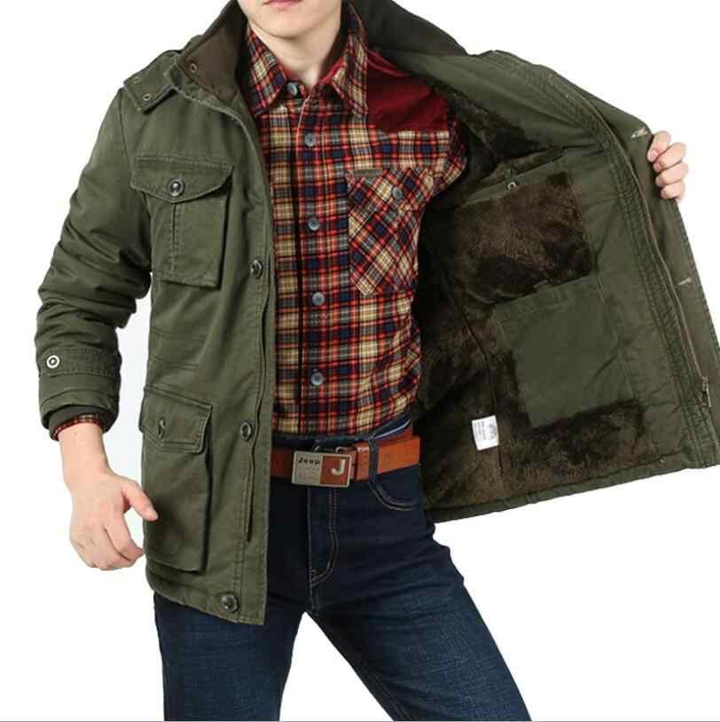 AFS ジープブランド厚い冬パーカー男性プラスサイズ 8XL 軍事冬のジャケットの男性生き抜くフリース綿パーカー屋外コート