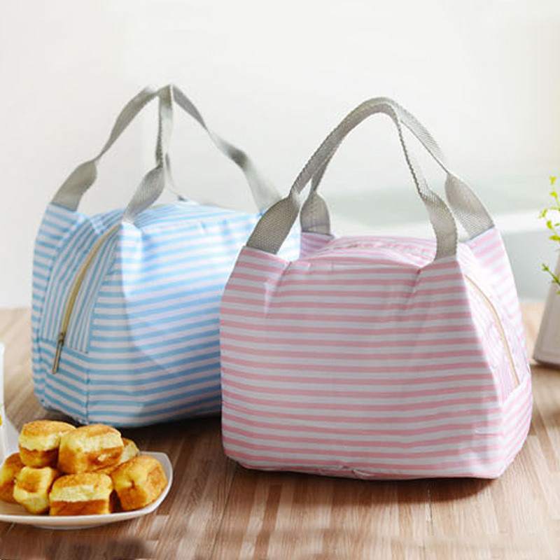 Fashion Portable Insulated Oxford Cloth Lunch Bag Thermal Food Picnic Lunch Bags For Women Kids Men Print Lunch Box Bag Tote