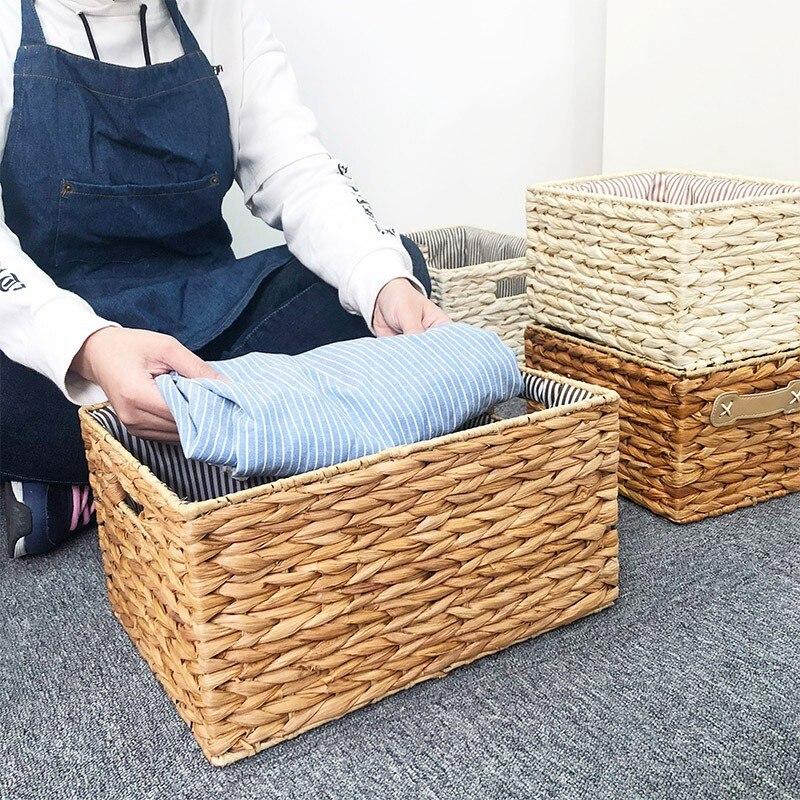 Nordic торговли шелухой корна, тканые корзины, для хранения одежды контейнер для хранения белья плетеные корзины ручной работы фрукты мусора к...