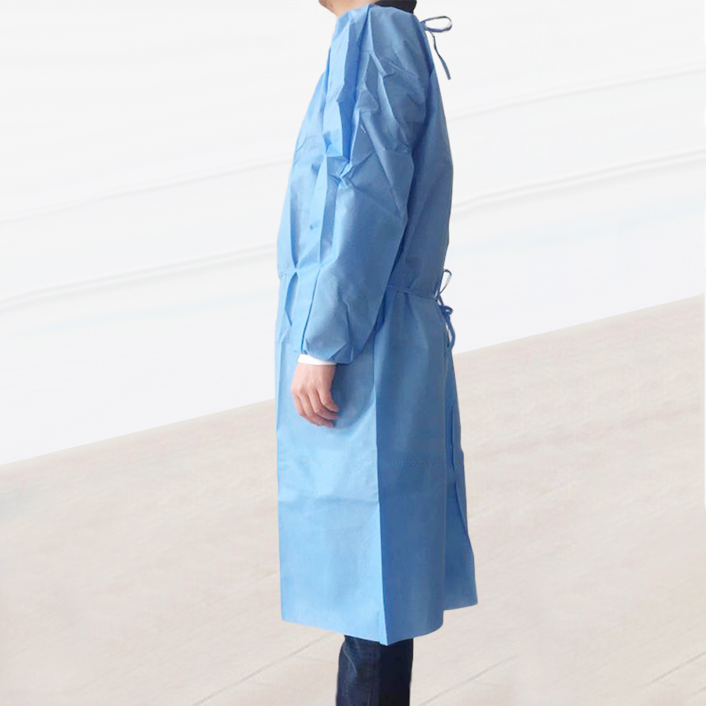 Unisex Disposable Protective Coverall Non Woven Drawstring Isolation Breathable Protection Suit Hazmat Suit рабочая одежда 3