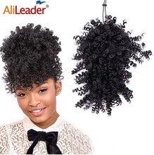 Alileader – Frange synthétique bouclée 11 couleurs, extensions de cheveux avec Clips, fausse Frange avant