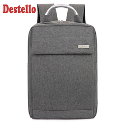 High quality fashion hard handle 17  laptop business backpack larger capacity travel back pack gray school bag for men