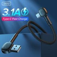 INIU 90 Grad USB Typ C Kabel Schnelle Lade Handy Ladegerät USB-C Daten Kabel Für Samsung S21 S20 Xiaomi mi 11 Redmi Huawei