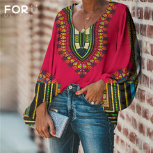 FORUDESIGNS Large Size 2020 Women Blouse and Tops African Pa