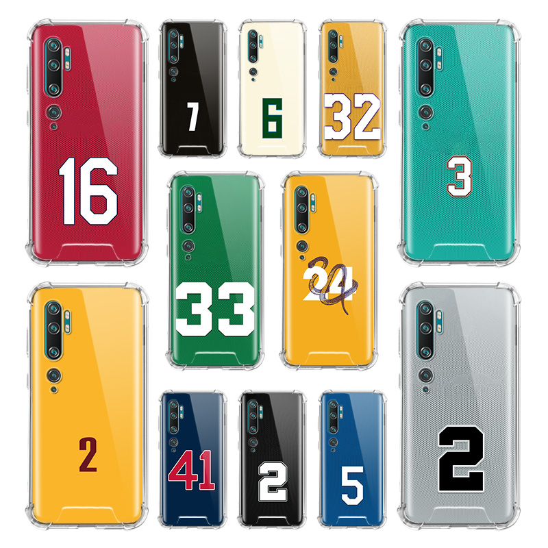 Funny Basketball Number Case For Xiaomi Mi Note 10 9 CC9 9T Pro 5G CC9E A2 Lite X2 Airbag Anti Fall TPU Phone Coque