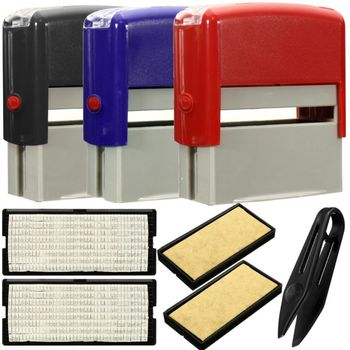 DIY Personalised Inking Rubber Stamp Kit Customised Business Name Address - discount item  57% OFF Arts,Crafts & Sewing