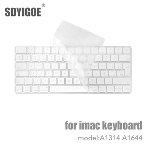 Desktop PC for Apple Bluetooth Wireless keybord MLA22LL/ A1644 A1314 IMAC Keyboard cover Protector Silicone Cover US/EU Version(China)