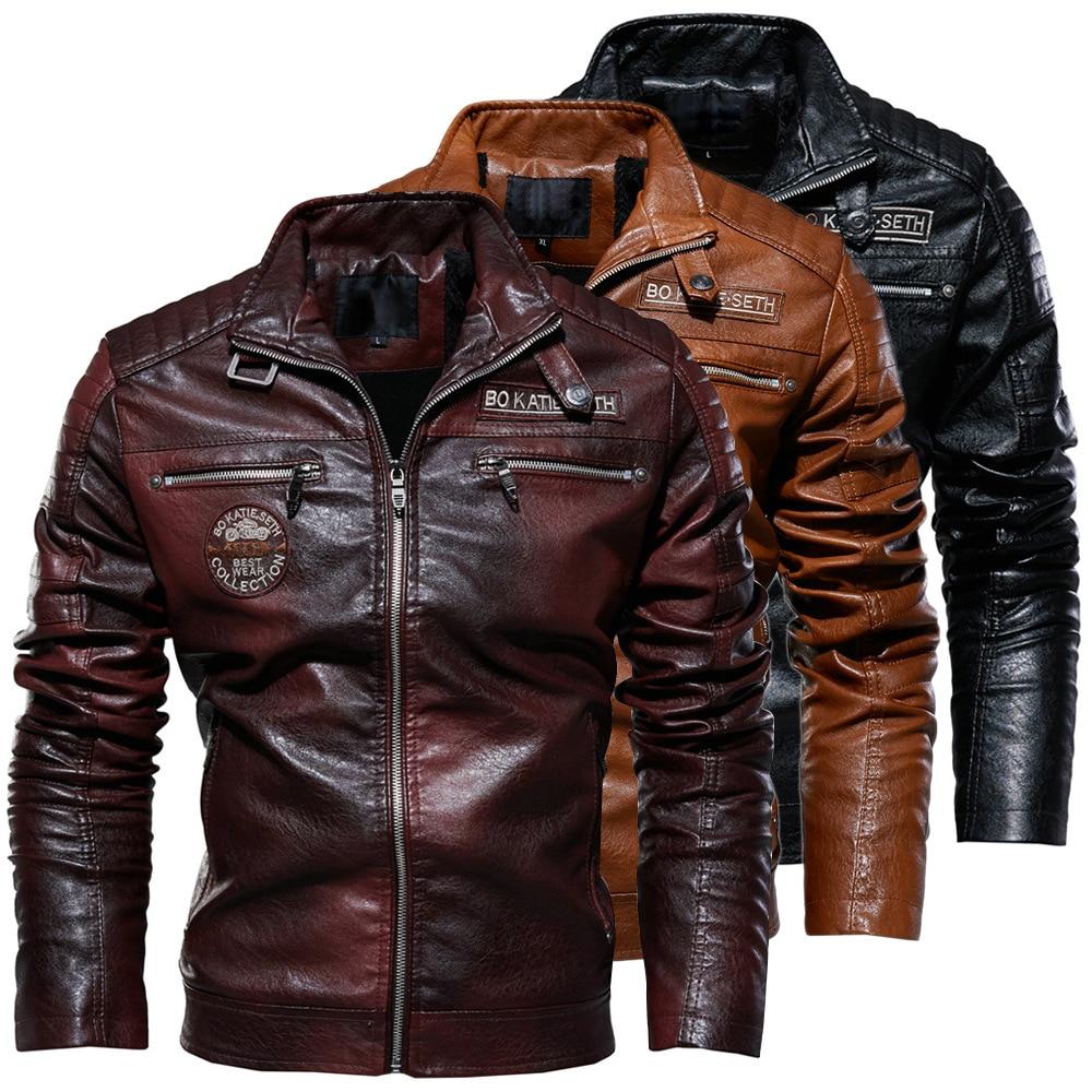2019 Men s Natural Real Leather Jacket Men Motorcycle Hip Hop Biker Winter Coat Men Warm Men's Natural Real Leather Jacket Men Motorcycle Hip Hop Biker Winter Coat Men Warm Genuine Leather Jackets plus size 3XL