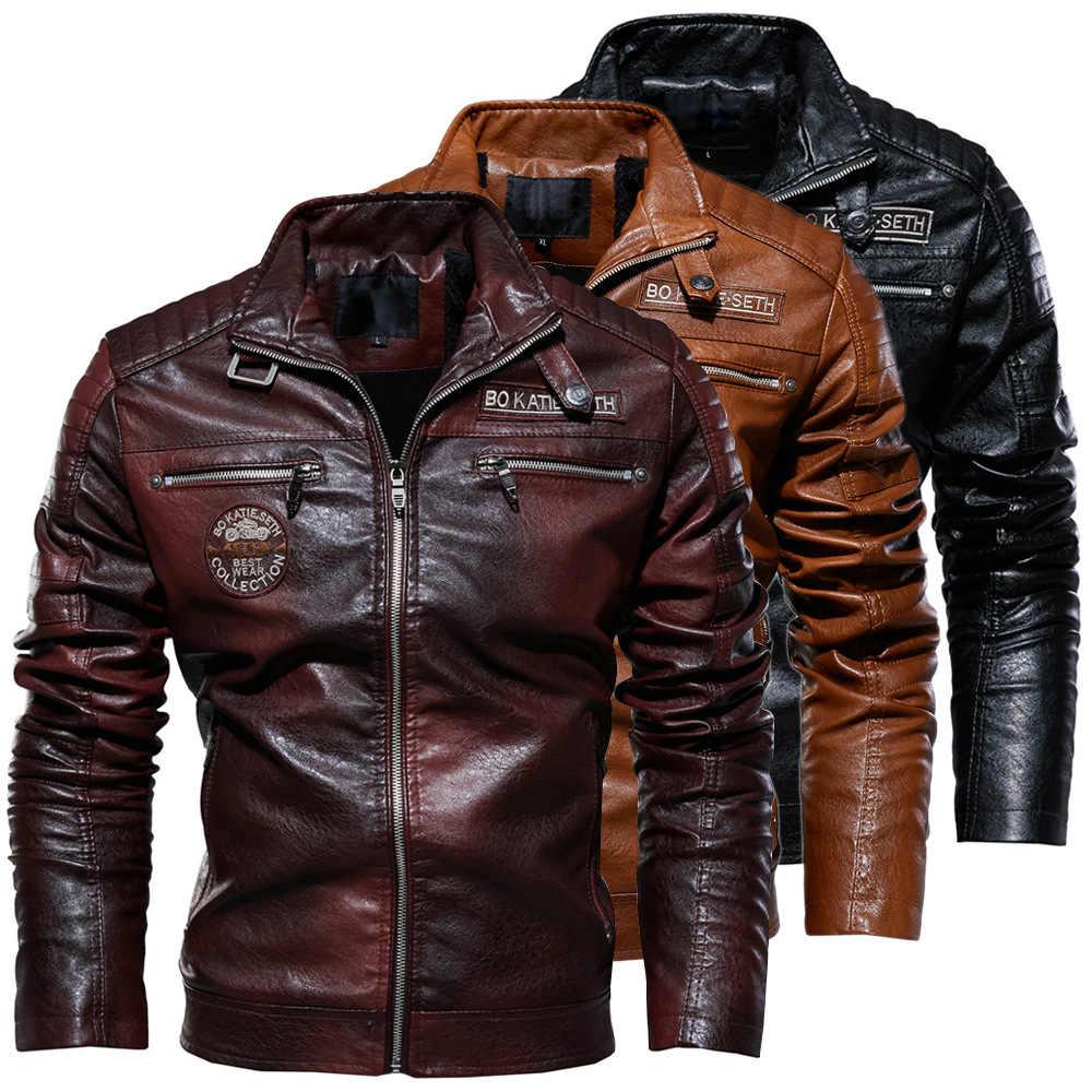 2019 erkek doğal gerçek deri ceket erkekler motosiklet Hip Hop Biker kış ceket erkekler sıcak hakiki DERİ CEKETLER artı boyutu 3XL
