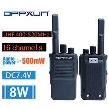 Rádio portátil em dois sentidos da frequência ultraelevada OPX-GD-6-400 mhz 16 do walkie talkie de 470 canais