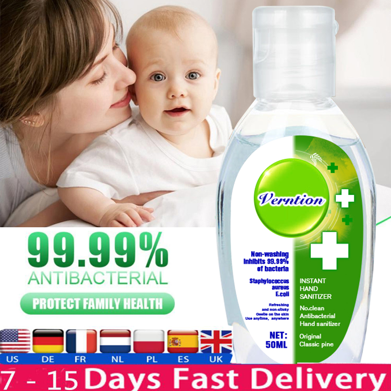 Verntion Antibacterial Hand Sanitizer Gel Effective Disinfection Hand Cleaner Disposable Rinse Free Alcohol Gel
