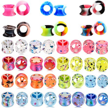 2Pair/lot Silicone Ear Stretchers Plugs and Tunnels 3-25mm Double Flare Plug Piercing Dilataciones oreja