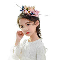 Vintage Women Large girl Headband Clip Fascinator Flowers hat Tiaras Feather hair clips Wedding Bridal Cocktail Hair Accessories