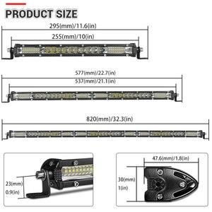 Image 3 - Супертонкая Светодиодная панель 10 20 30 дюймов, комбинированный луч, Однорядная Светодиодная панель для внедорожников, для автомобилей, грузовиков, 4x4, квадроциклов, УАЗ, внедорожников, 12 В, 24 В, лампа дальнего света