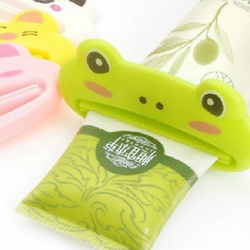 1Pc Plastic Toothpaste Tube Squeezer Easy Dispenser Rolling Holder Bathroom Tools