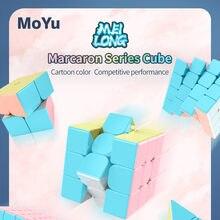 Moyu Meilong Macaron 3x3x3 2x2x2 4x4x4 5x5x5 piramit hız sihirli küp profesyonel bulmaca eğitici oyuncaklar çocuk erkek çocuklar için