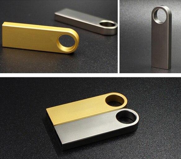 Real Capacity Keychain Usb Flash Drive 32GB Metal Pen Drive 8GB 16GB 64GB 128GB Pendrive 32GB Memoria Usb Stick Drive Cle Usb