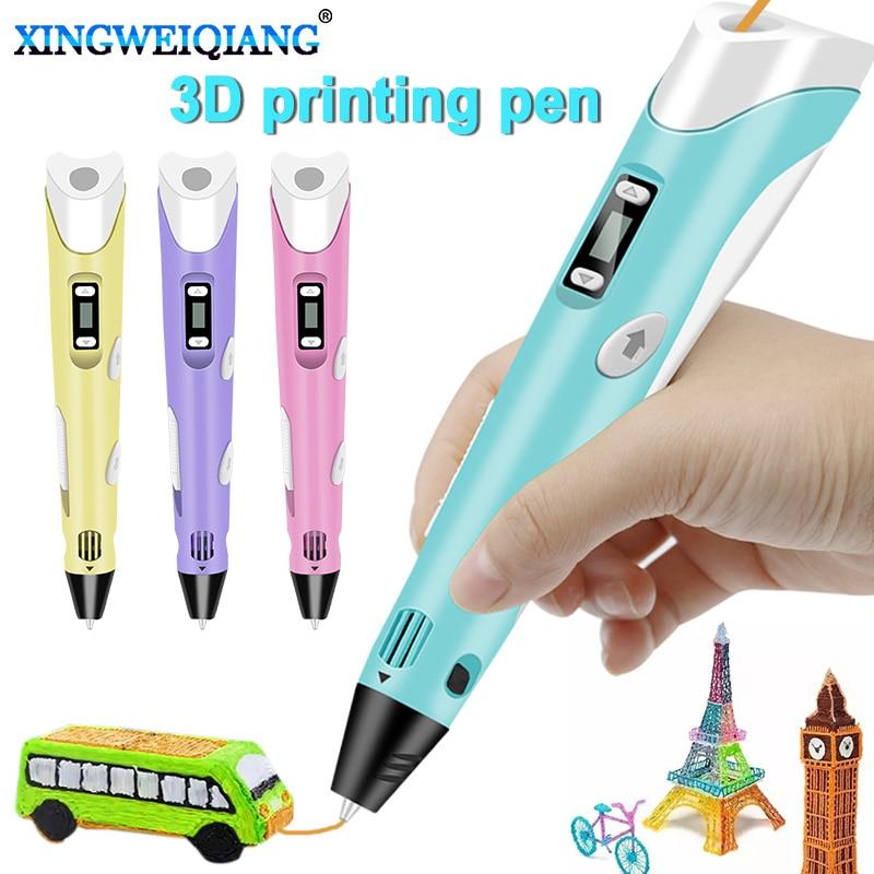 110V 220V EU UA 3D Pen Original DIY 3D Printing Pen With 100M ABS PLA Filament Creative Toy Gift For Kids Design Drawing