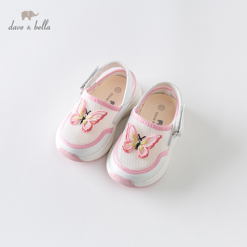 DB13759 Dave Bella Baby Girl Summer Fashion Sandals White Butterfly Sandals Cute Brand Shoes Baby Sandals