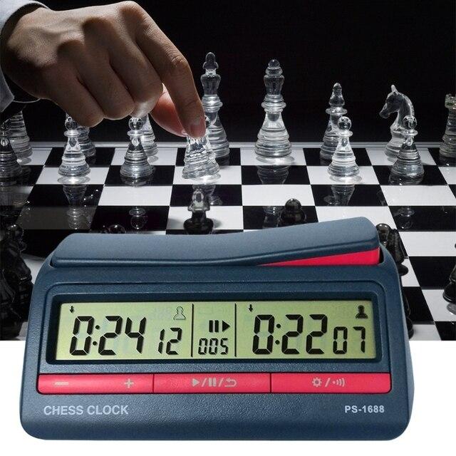 Horloge d'échecs avancée minuterie numérique compte à rebours horloge de jeu de société 3