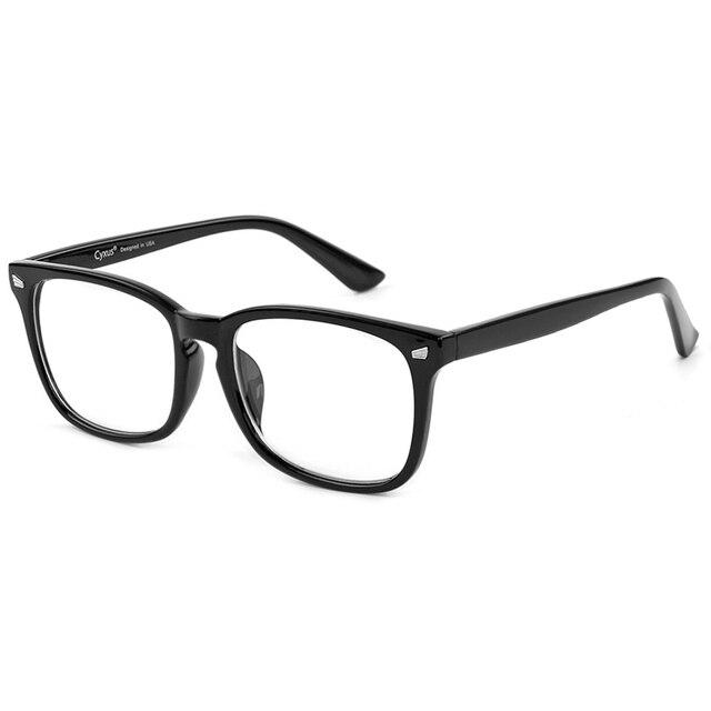 Cyxus Blue Light Computer Glasses for Blocking Headache Black PC Lens Gaming Glasses Unisex (Men/Women) 8582