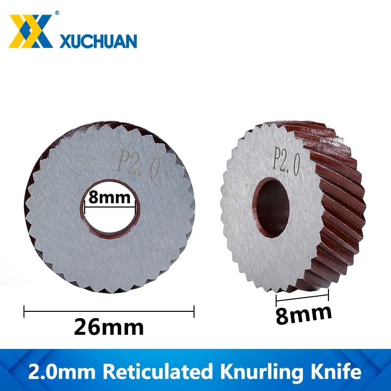 2.0mm Reticulated Knurling Knife Gear Shaper Cutter Reticulated Knurling Wheel Inner Hole Embossing Lathe Knurling
