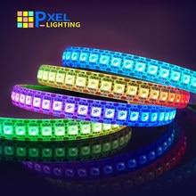 Ws2815 ws2812b ws2813 led tira de luz 5050 contas luz néon sinal inteligente pixels endereçável duplo sinal rgb cor cheia tira conduzida