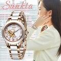 SUNKTA reloj de oro rosa para mujer  relojes de cuarzo  relojes de pulsera de lujo para mujer  reloj de pulsera para mujer  regalo para esposa  Zegarek Damski + caja|Relojes de mujer| |  -