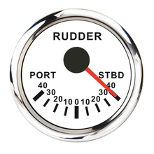 цены Marine Rudder Angle Indicator Gauge 0-190ohm, With Rudder Sensor - With Red Backlight For Boat Yacht Vessel